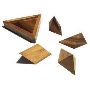 """Tabby Pinnacle"" Wooden Building Blocks (LG001)"