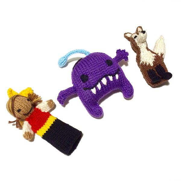 Finger Puppet Set (3 pcs)