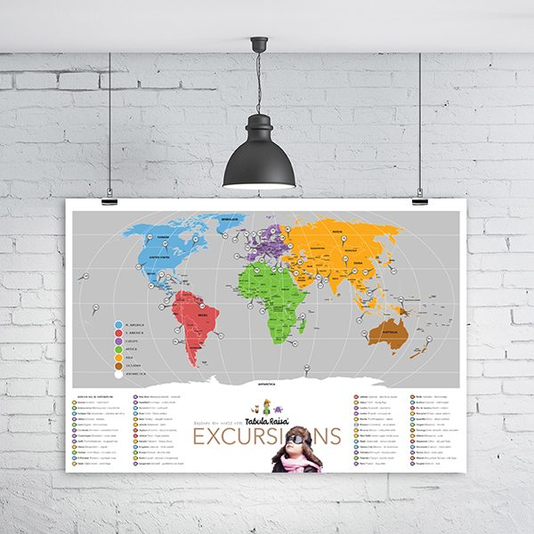 Map of the World (All 51 Destinations)