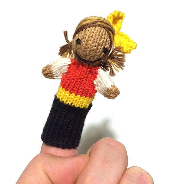 Tabby Juliaca (4″ finger puppet)